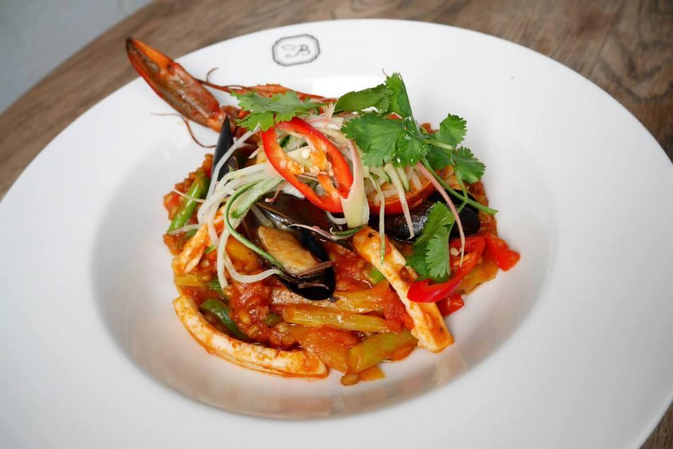 Seafood Freekeh Paella