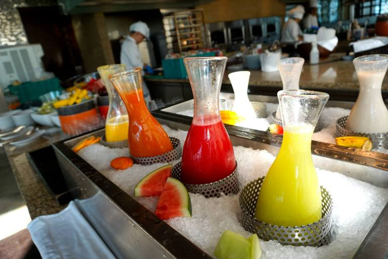 Start off your day with some fresh and healthy fruit juices!