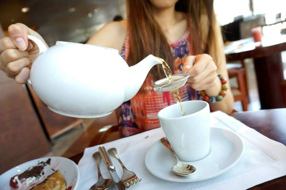 She washed it down with a nice cup of tea. You get to choose the type of tea you want from the list of imported teas.
