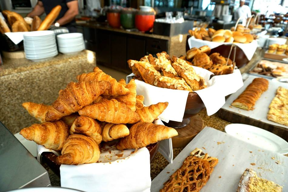 Lovely croissants and pastries. The smell of these were oh so tempting!
