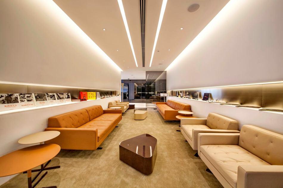 The Ferrari lounge