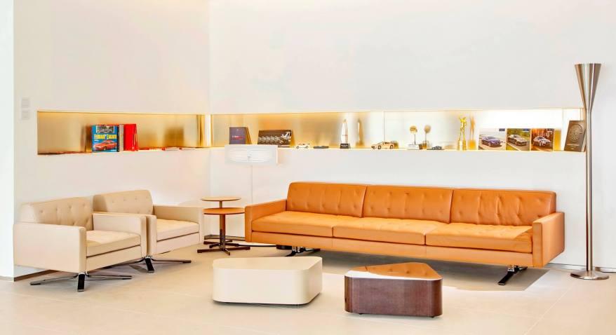 The Maserati lounge