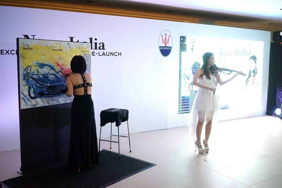 We were treated to a speed painting display accompanied by a violin performance while we enjoyed the delicious food and drinks