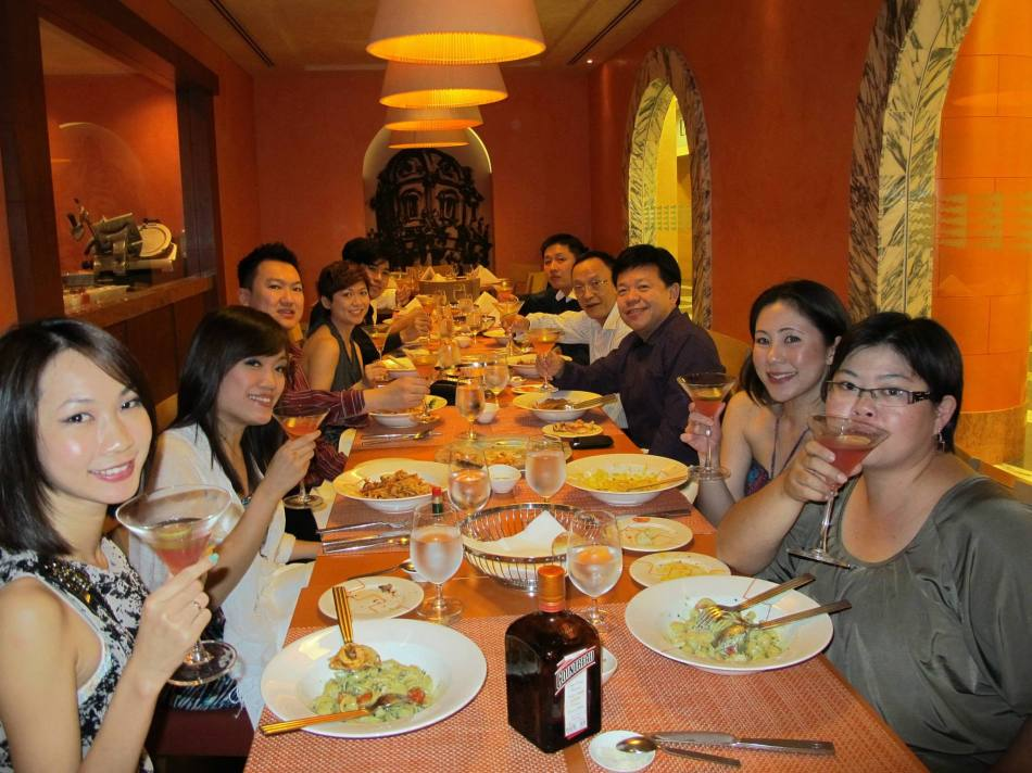The first order of business for the evening was dinner at the Hotel Michael in Sentosa