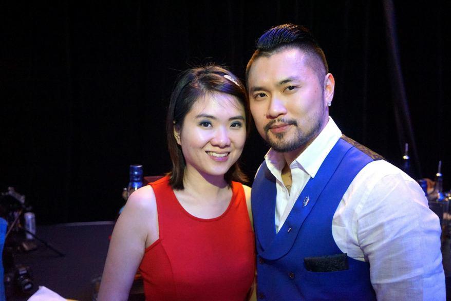 Kiki Loo and violinist Dennis Lau
