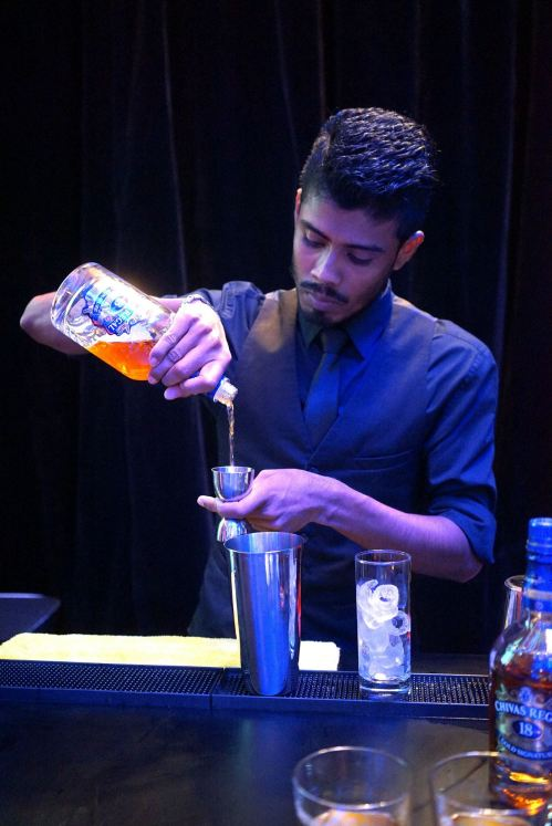 Bartender from Hyde in action