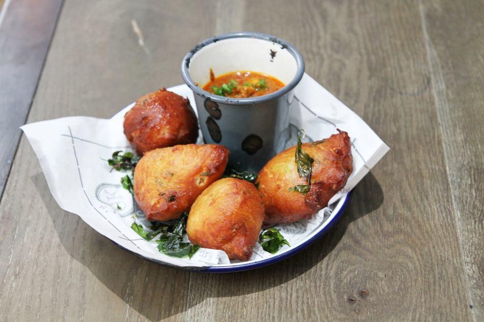Beignet Chicken Rendang - Herbed classic beignets with Chicken Rendang gravy