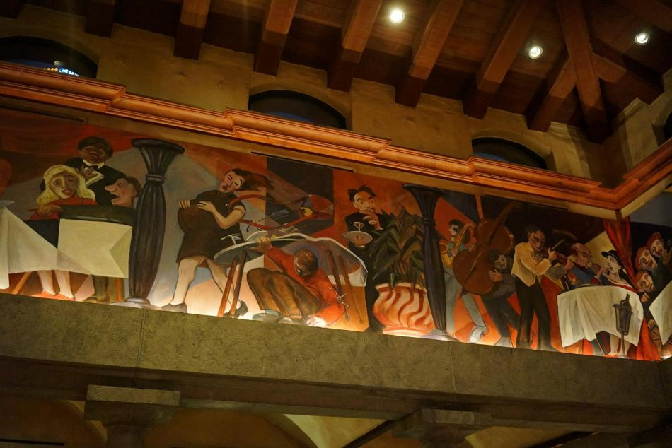 Beautiful murals on the ceiling