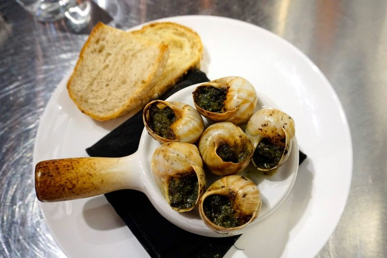 Escargots - baked French snails in pesto, garlic & butter - RM26.00