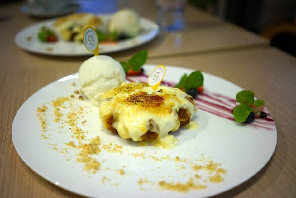 Musang King Durian Series waffle - a slice of heaven for the durian lover!