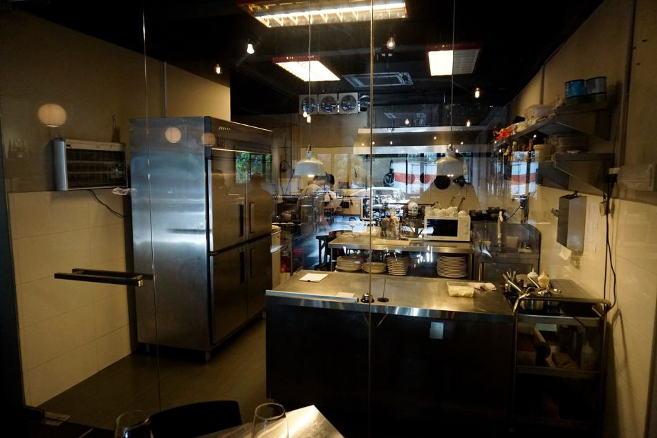 Topshelf has an open kitchen so you can watch the chefs in action