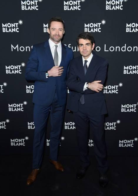 Montblanc Brand Ambassador Hugh Jackman & Montblanc CEO Jérôme Lambert