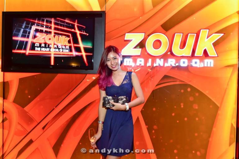 Then on to the party! First stop was the Zouk Mainroom and fortunately we had our very own model Hanlibubu with us.