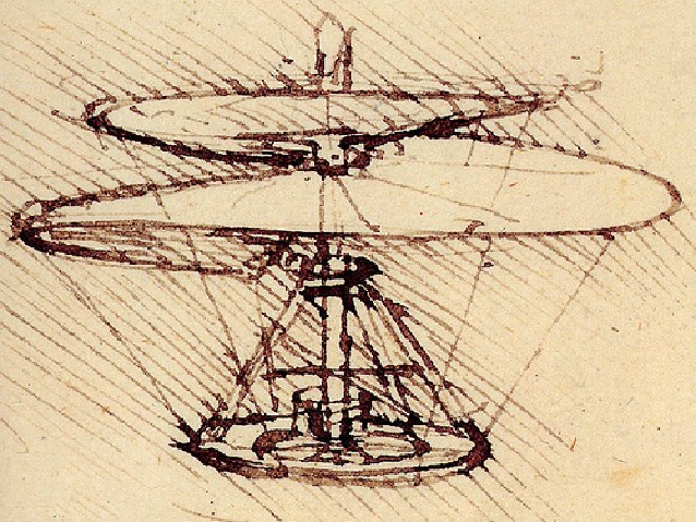 Leonardo da Vinci version of what is today the helicopter