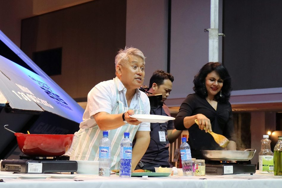 Chef Wan gave a cooking demonstration
