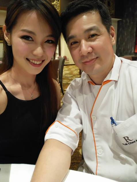 Joyce with Executive Sous Chef Kok Chee Kin