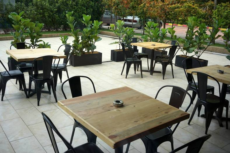 """There's an al fresco dining area for those who prefer """"fresh air"""""""