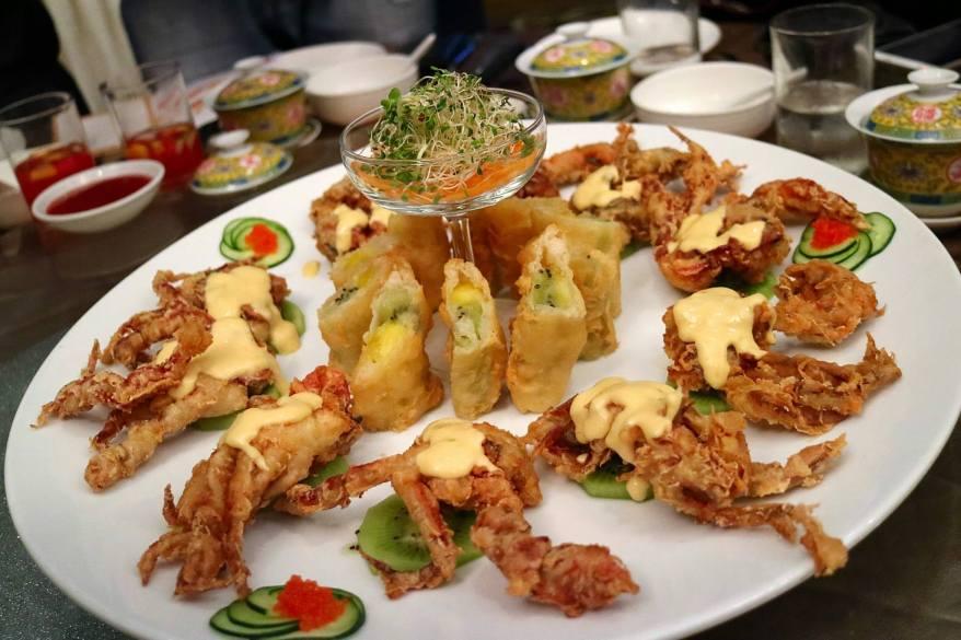 Crispy Soft Shell Crab with Mango and Kiwi Sauce - RM43.00++