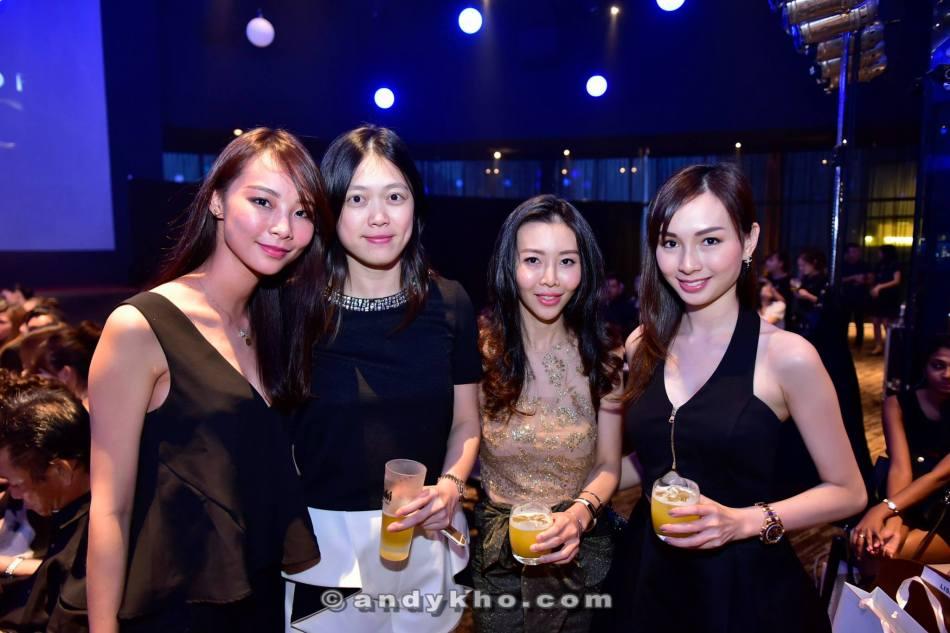 Blogger Nana Law aka Bwincess Nana (L), Linda Chen (R) and their friends