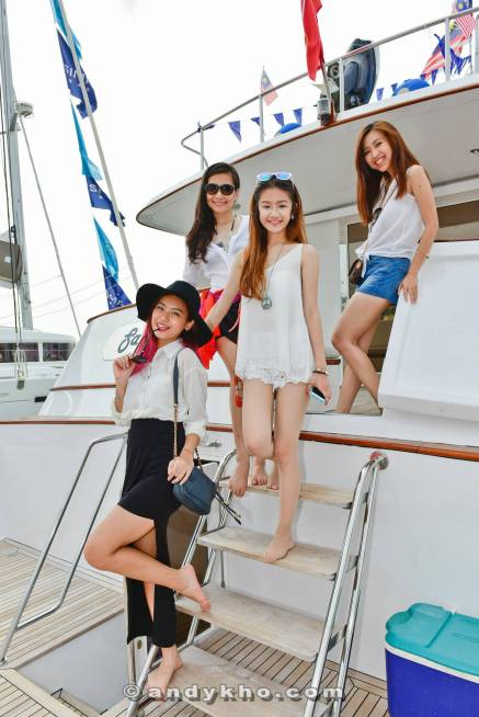 After we returned to the marina, we boarded the Sabrina which held the Johnnie Walker bar