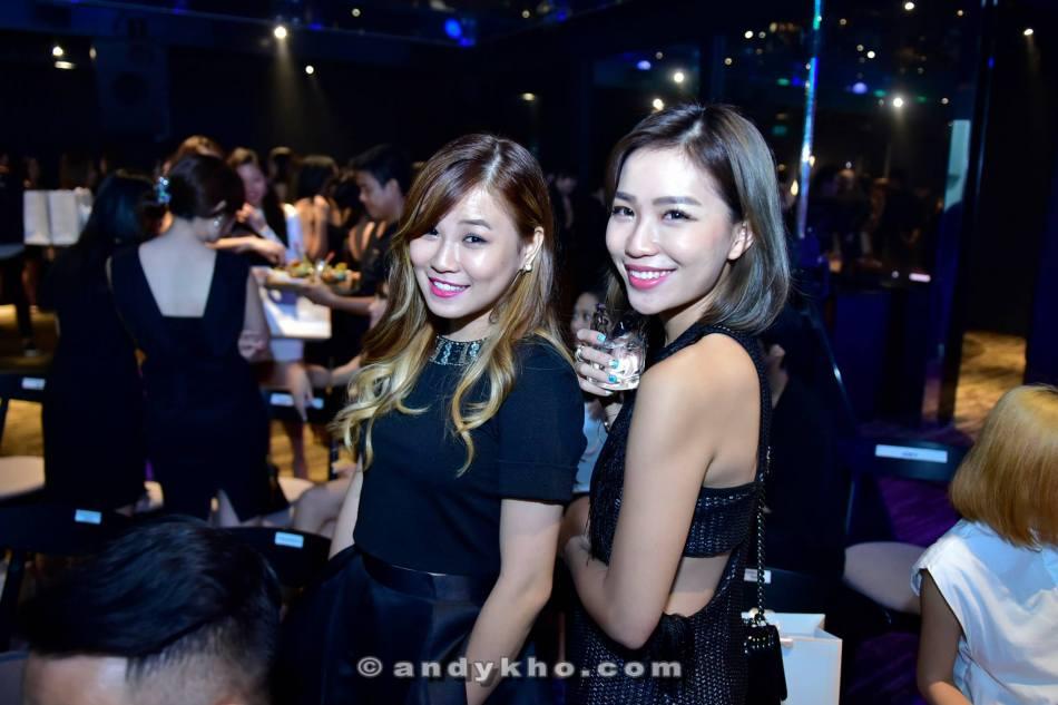 Blogger Karen Kho (R) and her friend