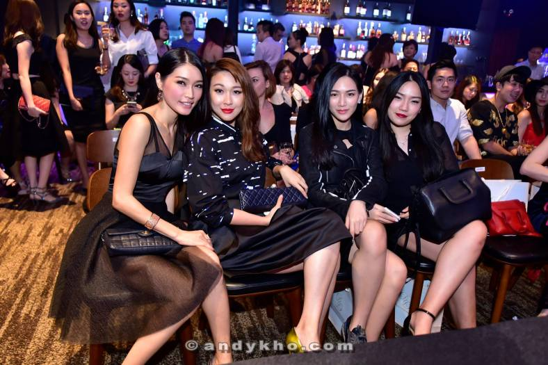 Amber Chia, her friend, Jane Chuck aka Chuckei and Natalie Saw (L-R)