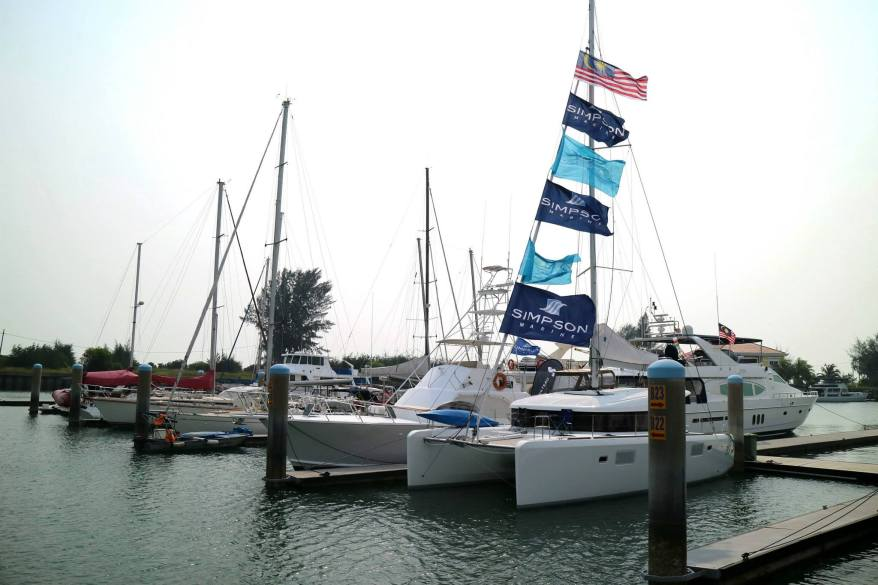 Checking out the many tachts docked at the marina