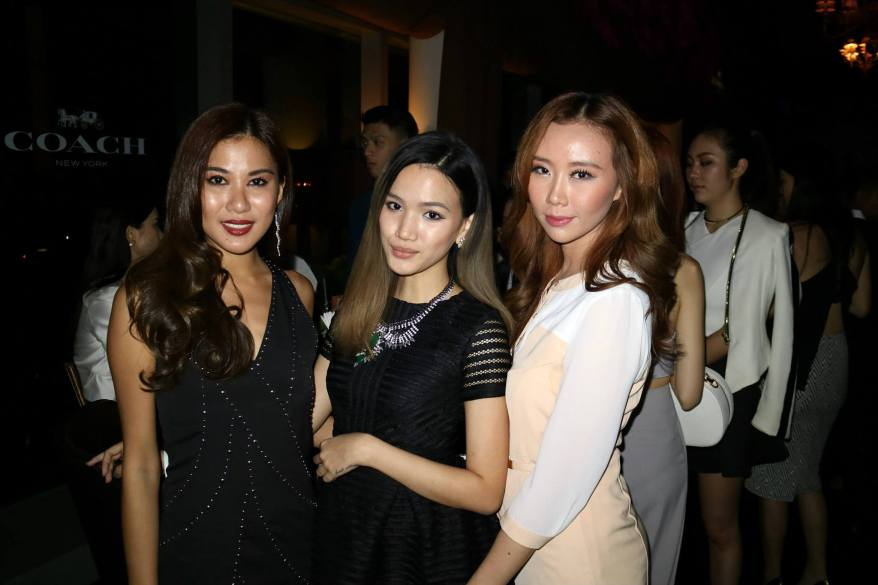 MHB's Stephanie Lim and Chelsea Chil with Miss World Malaysia 2012 Lee Yvonne
