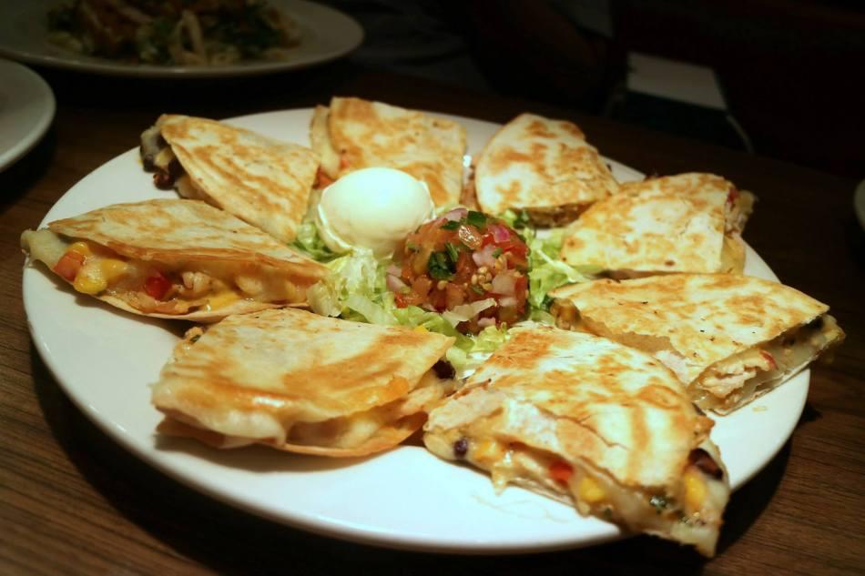Santa Fe Chicken Quesadillas (from the RM75.00 menu) -