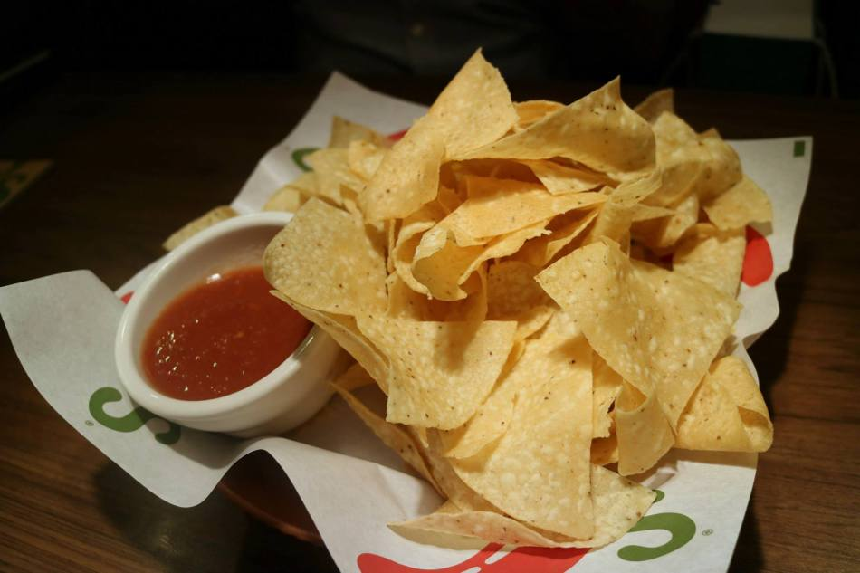 Warm and crispy tostada chips with our fresh and flavorful house-made salsa.