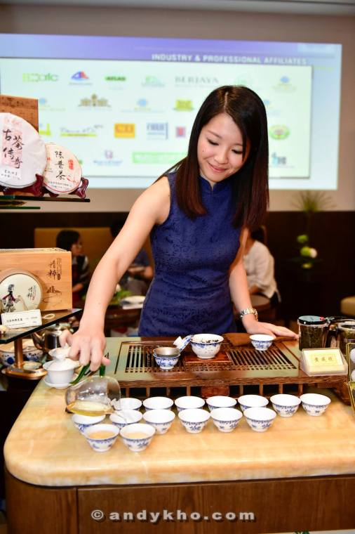 We also visited the Epicure International Gourmet Village where gourmet food and beverage vendors were selling their products. This pretty girl let us try her teas which she imports in from China.
