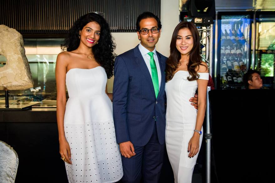Dr. Raj with Thanuja and Lee Yvonne