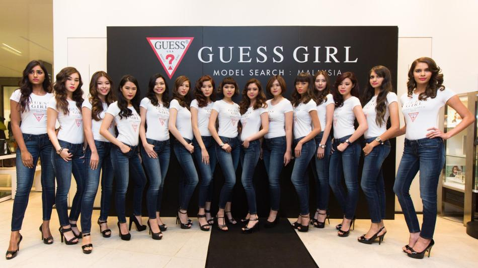 The GUESS Girl Malaysia Top 15 finalists