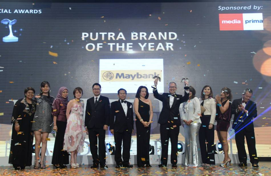 Maybank won the Putra Brand of The Year award