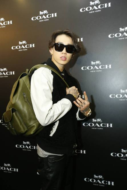Jay Park with Coach bag