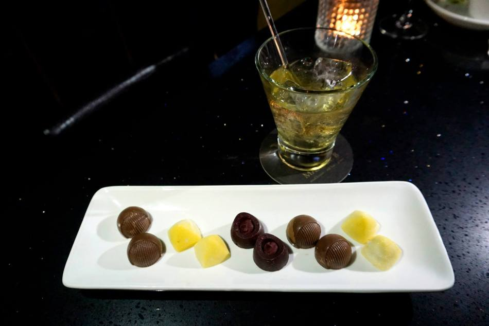 An awesome little selection of chocolates to end the meal