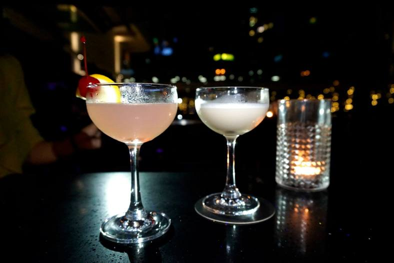 Strong cocktail (left) and Ambitious cocktail (right) – both were specially curated for Mood & Music night