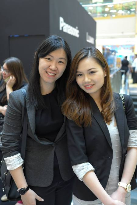 Pretty Sharon and her colleague from Panasonic