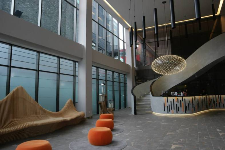 The lobby which has a modern design