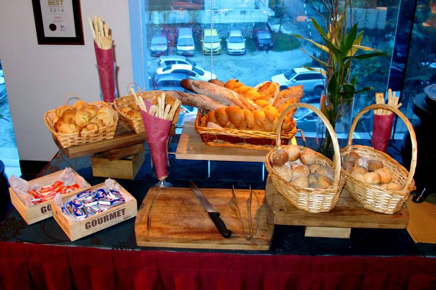 Bread and soup counter