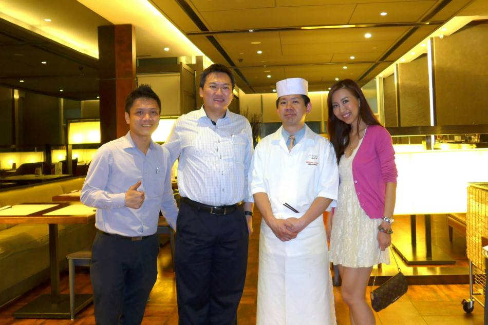 Us with Chef Takahiro and Operations Manager Tony Wong