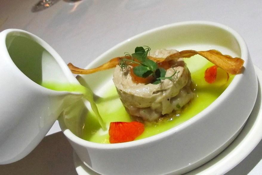 Hamachi, Apple, Smoked mackerel, Cashew nut, Calamansi