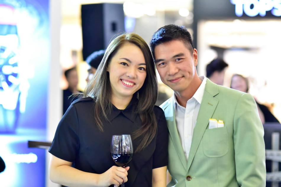 Siew Kheng (L) from Pernod Ricard Malaysia with a friend
