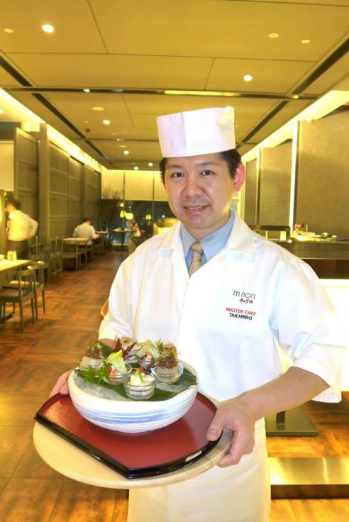 Chef Takahiro specialises in the kappou or counter-style of Japanese cooking where the chef cooks or prepares the food close to the diners. He's a very friendly person and speaks fluent English due to his time spent in Singapore prior to coming to Malaysia.