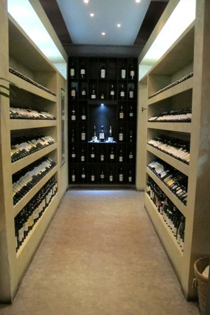 Wine cellar? No. This is the walkway to the restrooms!