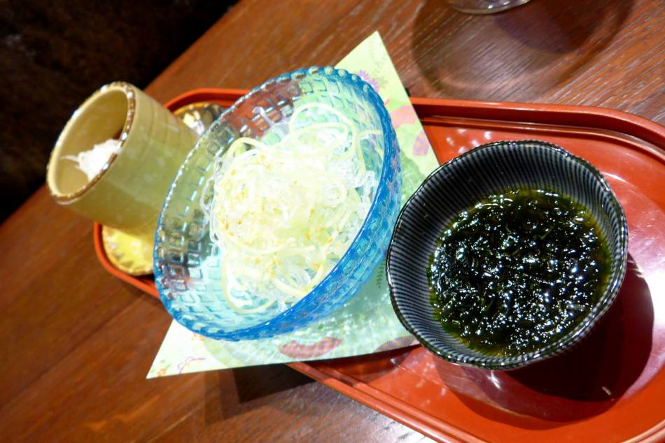 Seaweed Glass Noodles served In Soba Style