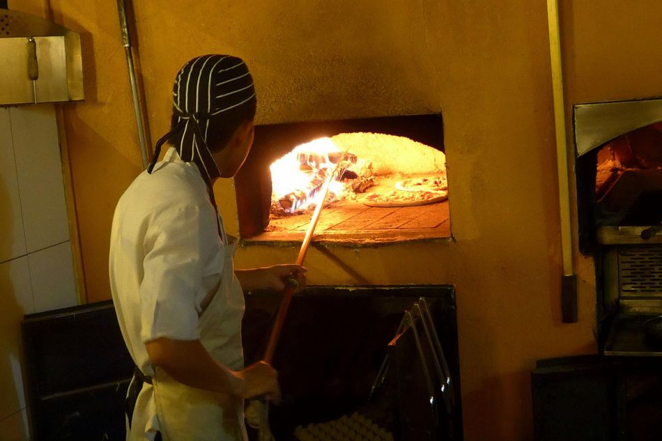 Nerovivo is known for their delicious pizzas which are cooked in this wood fired oven