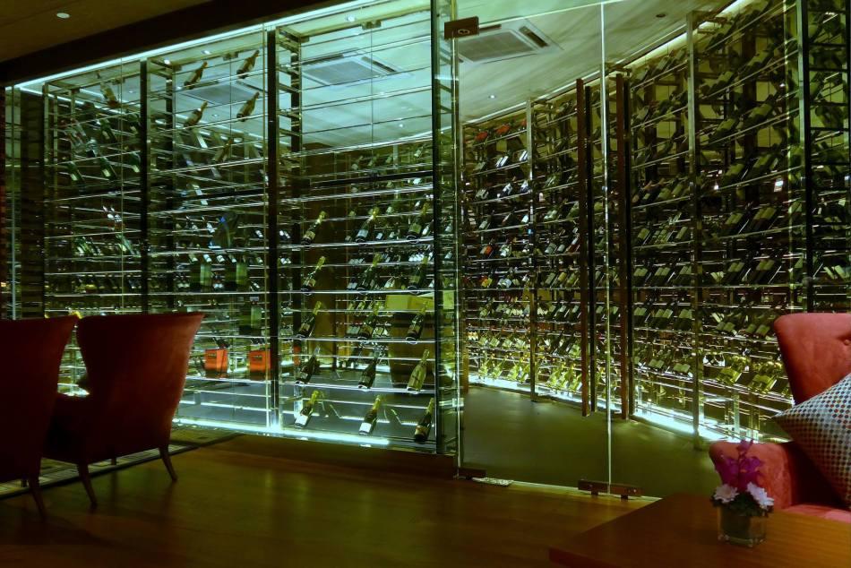 The temperature controlled wine cellar