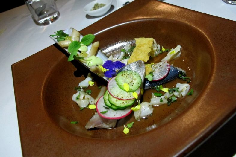 Dutch Herring, Cucumber, Razor Clam, Radish, Dashi Consommé