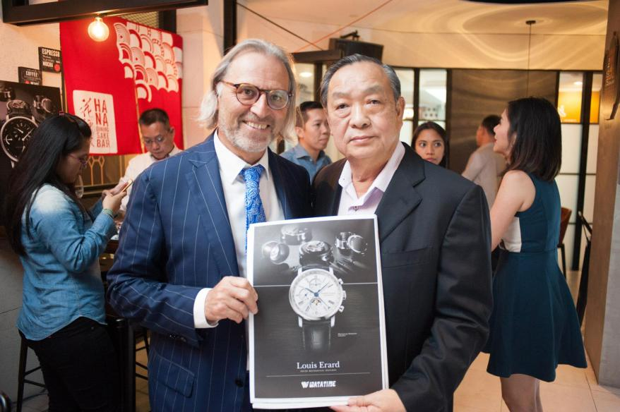 The CEO of Louis Erard, Mr Alain Spinedi with Mr. Tham from Watatime